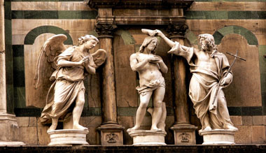 Baptistery-The Baptism of Christ above the Gates of Paradise