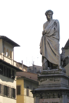 Piazza Santa Croce-Statue of Dante