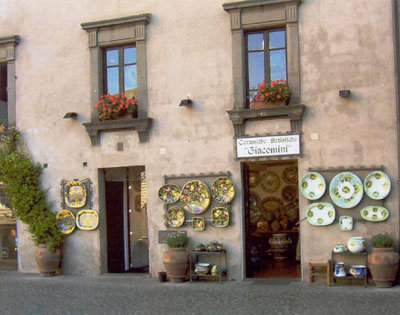 Orvieto-Ceramic Shop