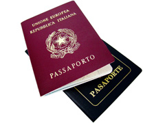 Flights to Italy - Passport