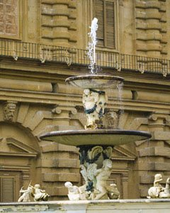 Florence Museums-Pitti Palace Fountain